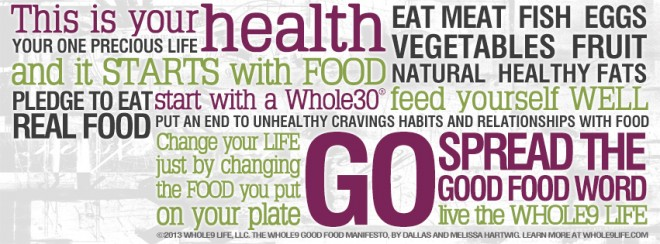 Whole9 Good Food Manifesto Facebook cover photo