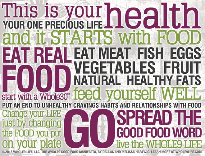 Whole9 Good Food Manifesto