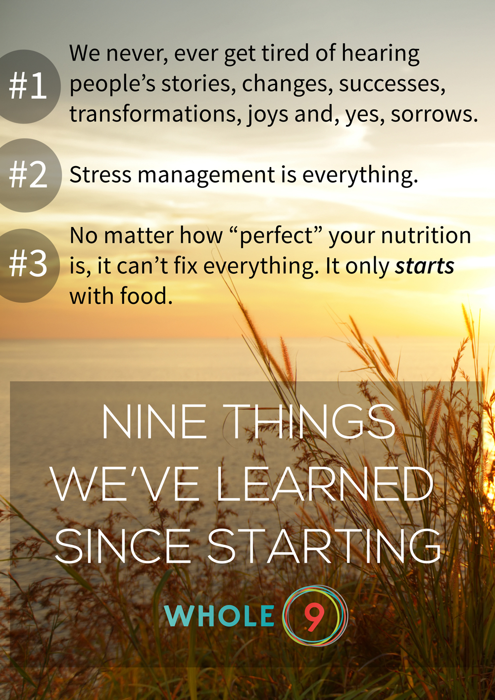 9 Things We've Learned Since Starting Whole9 - Whole9life.com