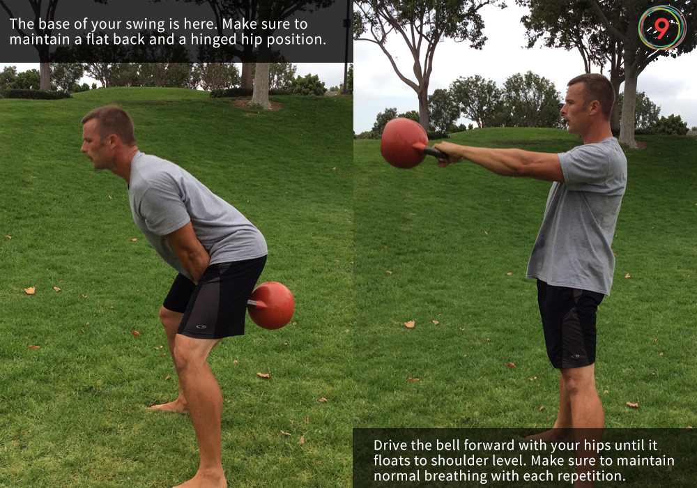 kettlebell swing instruction